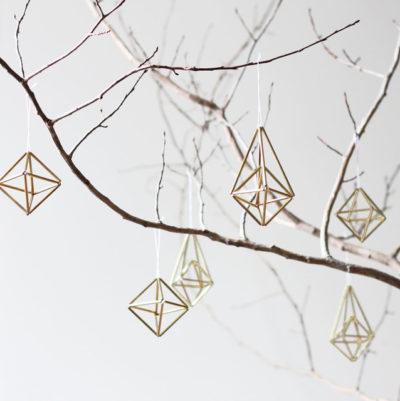 brass himmeli ornaments